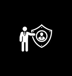 Personal protection icon flat design vector