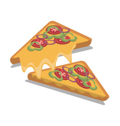 Pizza fast food design isolated vector