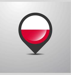 Poland map pin vector