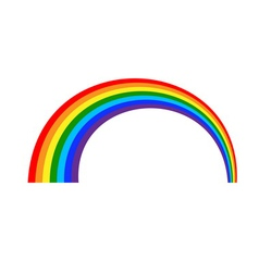 Rainbow icon cartoon 1 vector
