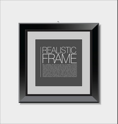 realistic frame 2 vector image