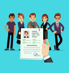 Recruitment recruiter choosing candidates vector