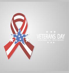 Ribbon for veterans day vector