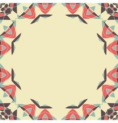 Round frame Mandala Circular Ornamental Pattern vector image
