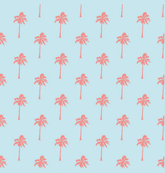 seamless tropical pattern with palm trees vintage vector image