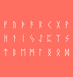 Set ancient norse runes runic alphabet futhark vector