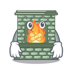 silent luxury fireplace isolated on the mascot vector image