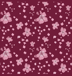 sophisticated floral seamless pattern vector image