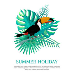 Summer holiday poster text vector