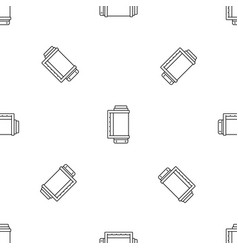 Thermos bottle pattern seamless vector
