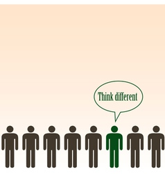 Think different concept- background vector image