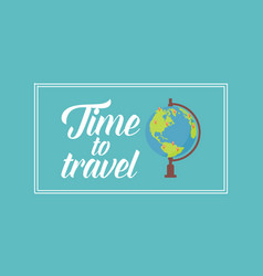 Time to travel on the world vector