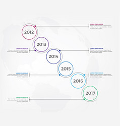 timeline infographic design elements vector image