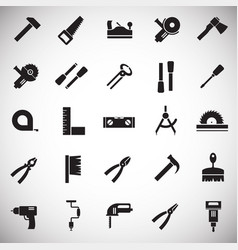 tools icons set on white background for graphic vector image