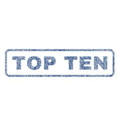 Top ten textile stamp vector