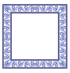 trendy blue national ornament in the shape of a vector image