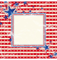 usa background with one decorative label vector image