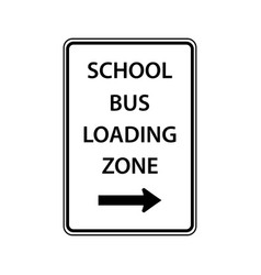 Usa traffic road signsschool buses load and vector