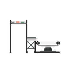 Walk through metal detector isolated icon vector