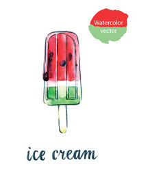 Watermelon ice cream vector