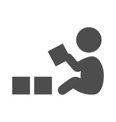Baby plays with blocks pictogram flat icon vector image vector image
