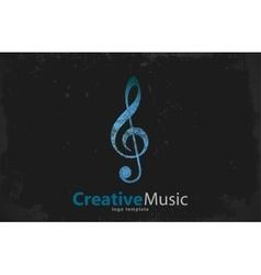 Music logo Musical key note template logo vector image vector image
