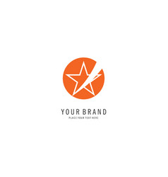 star finance logo vector image vector image