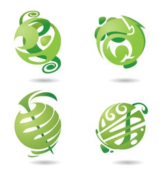 abstract icons set vector image