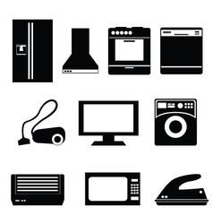 appliance icons vector image vector image