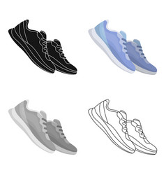 Blue sneakers for sports sports shoes gym and vector