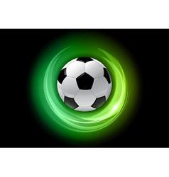 football neon light dark green vector image