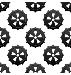 Gear and pinion seamless pattern vector image vector image