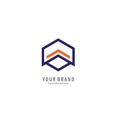 hexagon finance logo vector image vector image