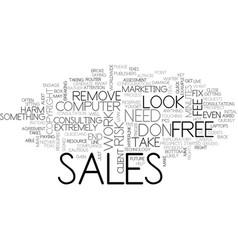 It sales move them from free to fee text vector