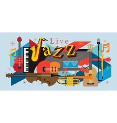 Jazz Music Instruments Background vector image vector image