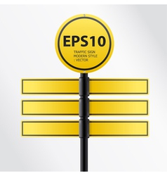 modern yellow traffic sign vector image