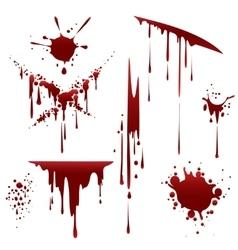 Bloody horror scruffy splatter vector image