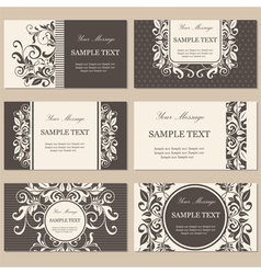 cards set brown vector image vector image