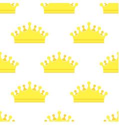 diadem golden king crown seamless pattern vector image