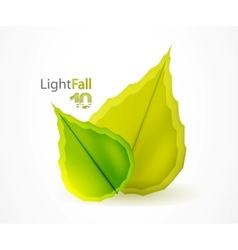 fall abstract flying leaves background vector image vector image