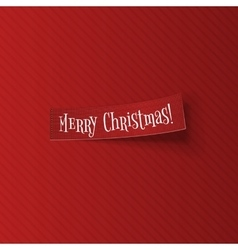 Merry Christmas sticky Banner with Shadow vector image vector image