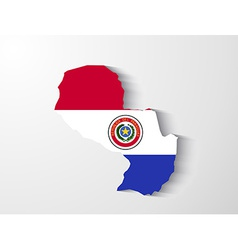 Paraguay map with shadow effect presentation vector image vector image