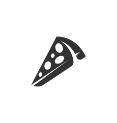 Pizza Icon logo on white background vector image vector image
