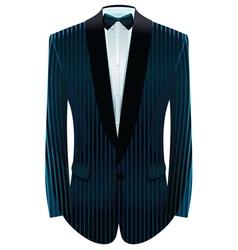 striped tuxedo vector image