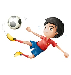 A soccer player vector image vector image
