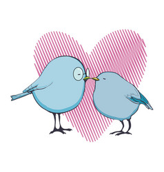 birds love valentine s day vector image vector image