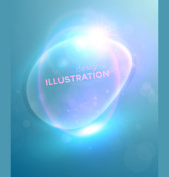 Blue bubble backdrop vector