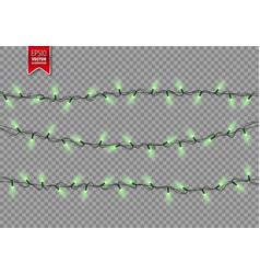 christmas festive lights decorative glowing vector image