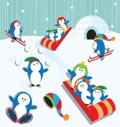 penguin fun vector image