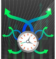 Time 3 vector image vector image
